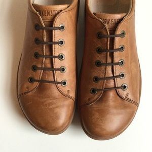 Birkenstock Islay Leather Lace Up Sneaker Brown Size 40